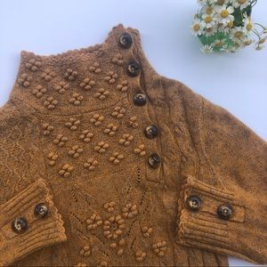 Anthropologie Moth brown sweater